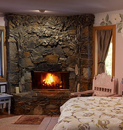 A Beautiful Custom Built Fireplace In Every Bedroom